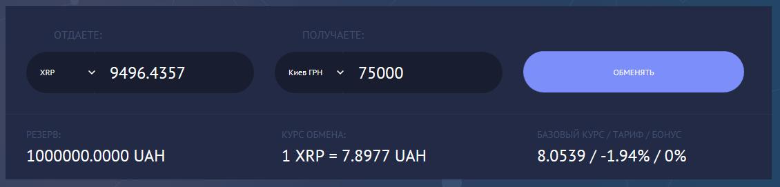 XRP на наличные в Киеве
